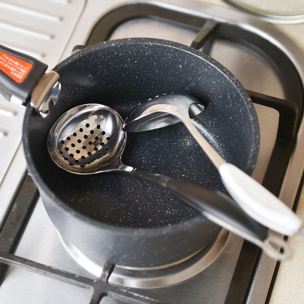 日本Softia  |  防燙手不鏽鋼漏杓