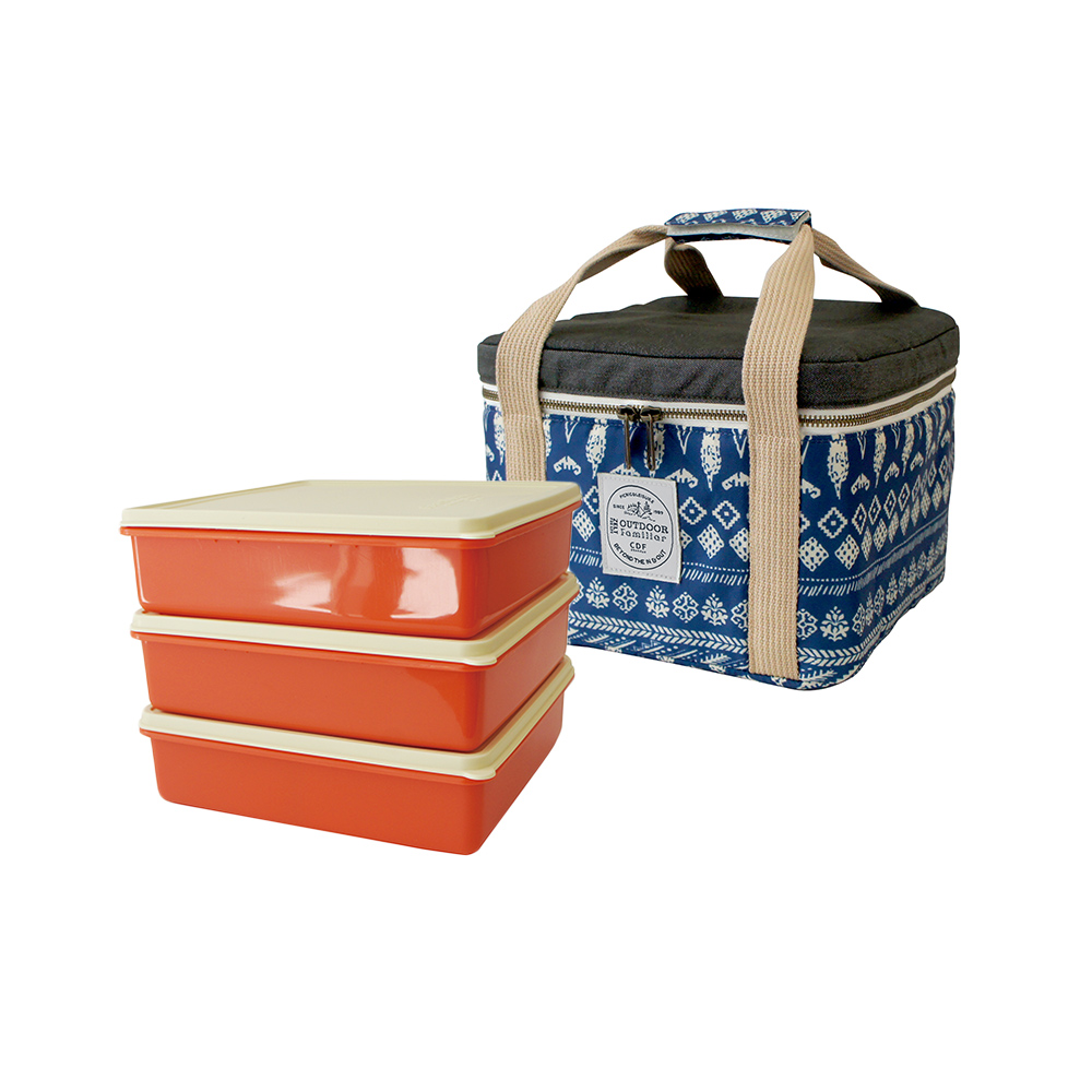 BISQUE|3件便當盒保溫保冷袋組