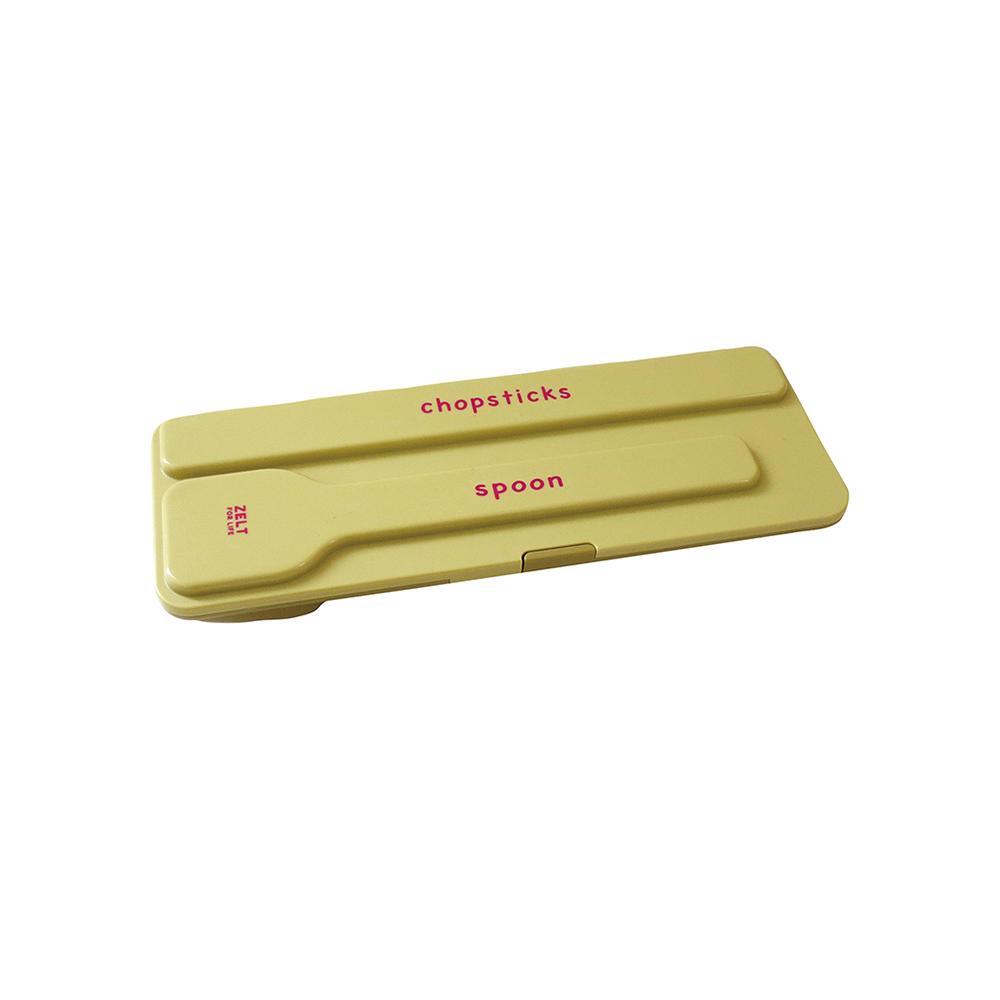 日本BISQUE|外出筷子湯匙組附收納盒