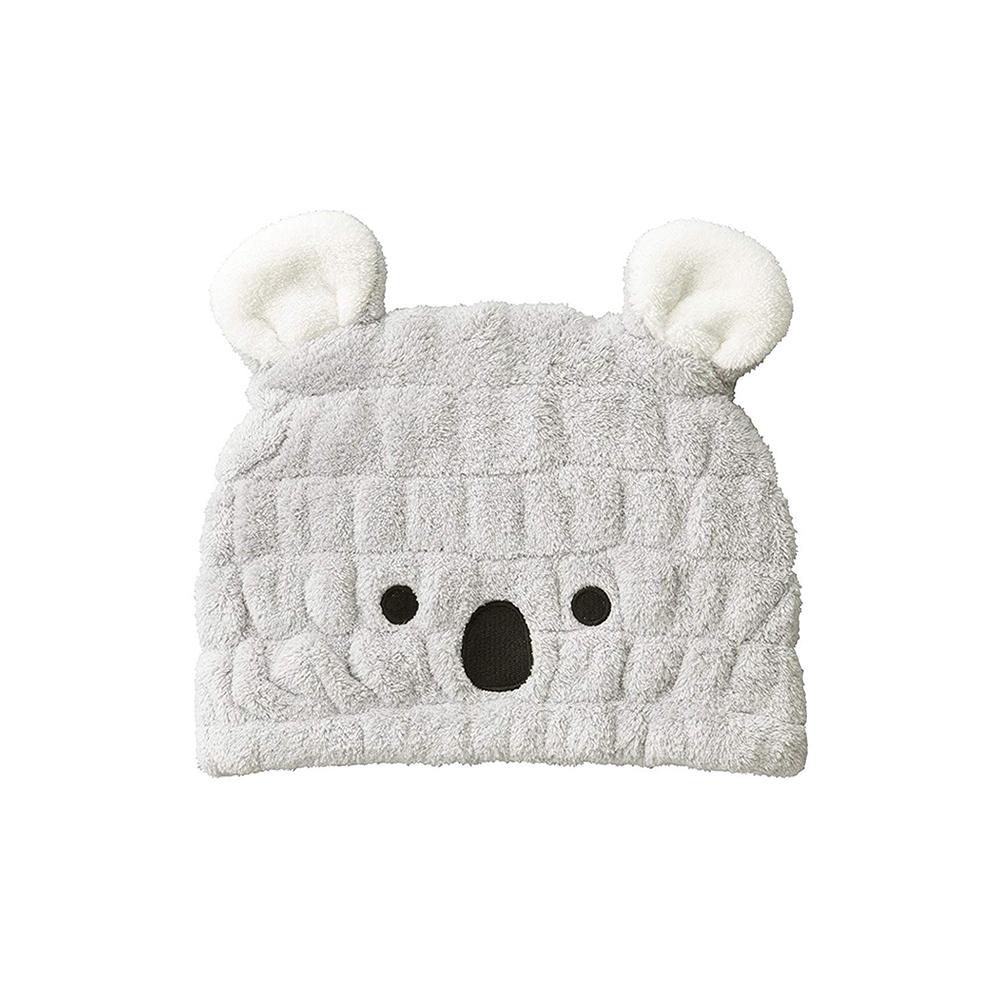 CB Japan|兒童動物造型超細纖維浴帽-無尾熊灰