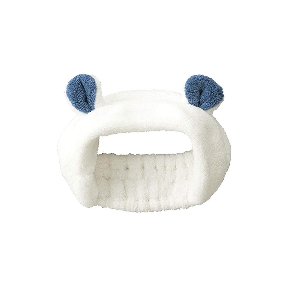 CB Japan|兒童動物造型超細纖維髮帶-北極熊白
