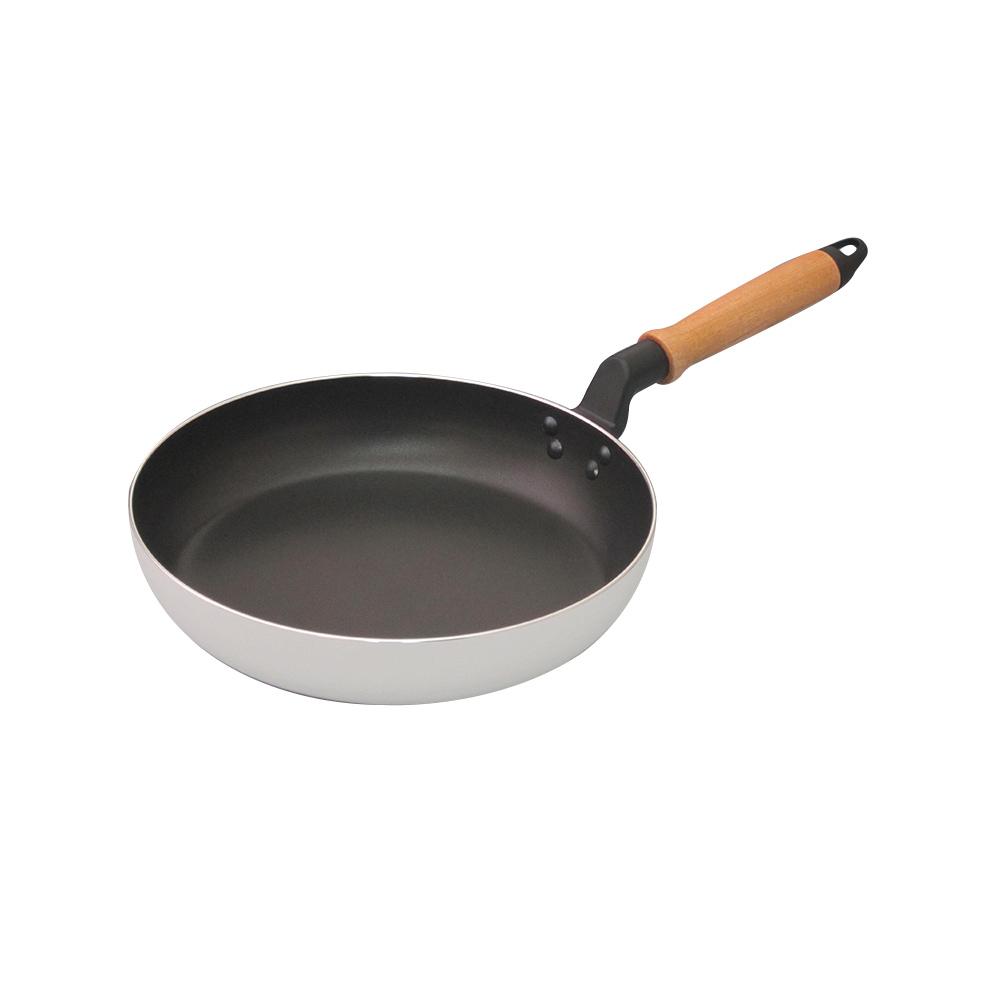 谷口金屬|大和楓木柄輕質不沾煎鍋-26cm