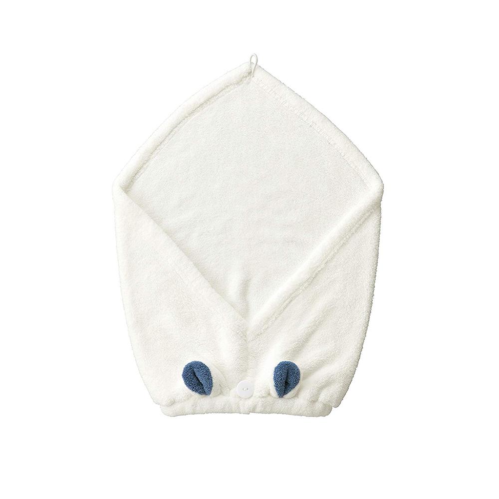 CB Japan|兒童動物造型超細纖維擦頭巾-北極熊白
