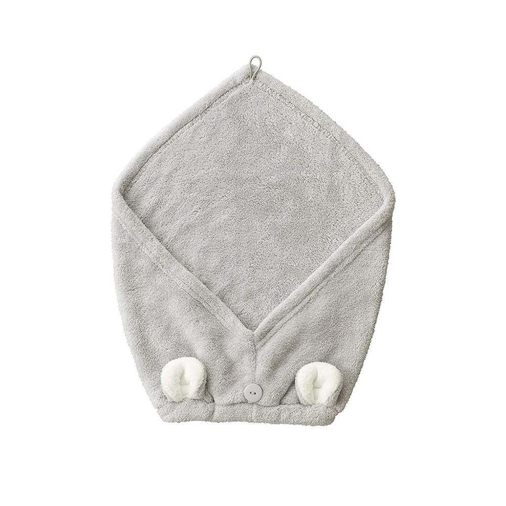 CB Japan|兒童動物造型超細纖維擦頭巾-無尾熊灰