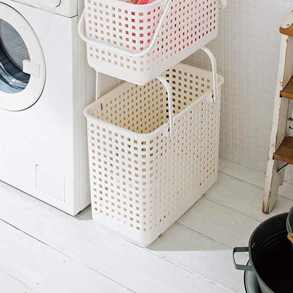 like-it | 可堆疊加高洗衣隙縫籃-L-1入