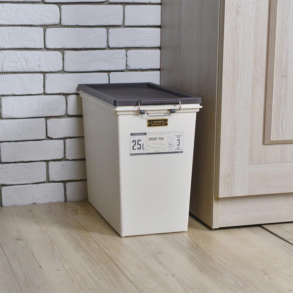 天馬 e-LABO密封防臭掀蓋式垃圾桶-25L