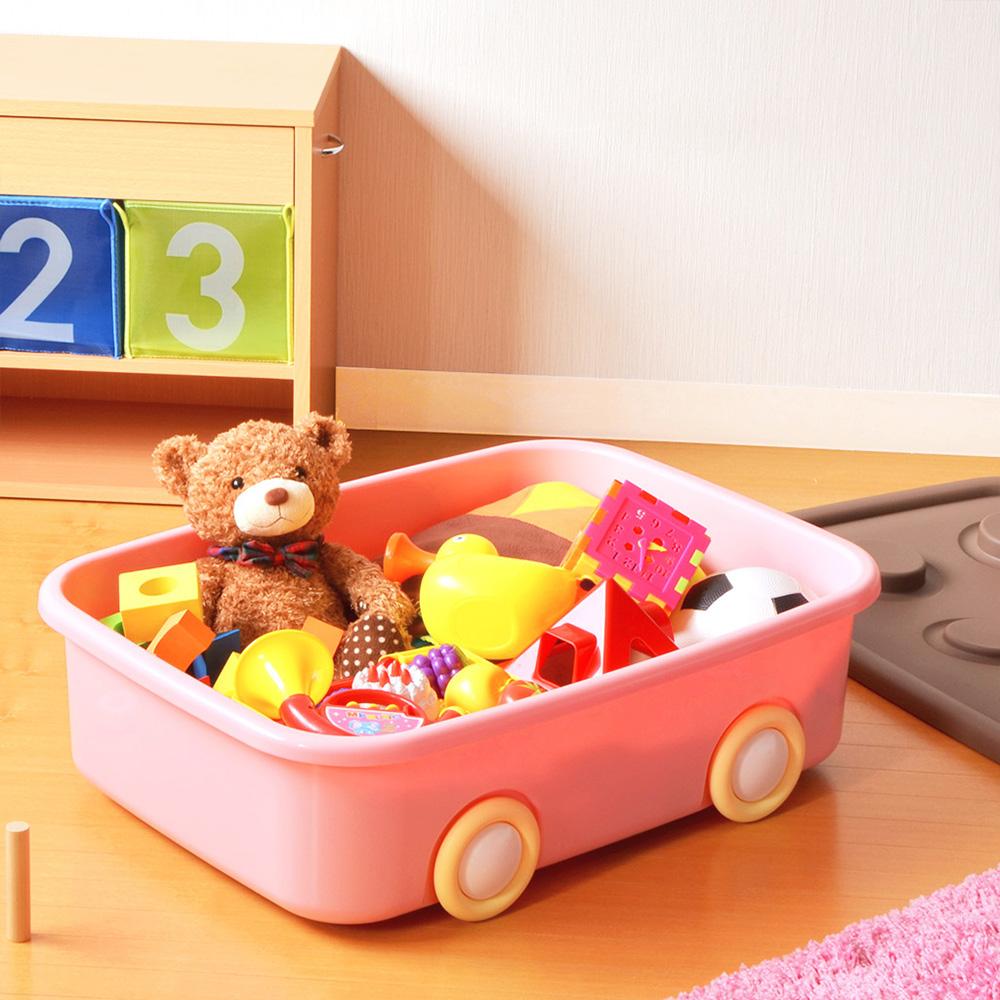 伸和|玩具衣物可疊固定收納箱XL(50L)-附輪-2入