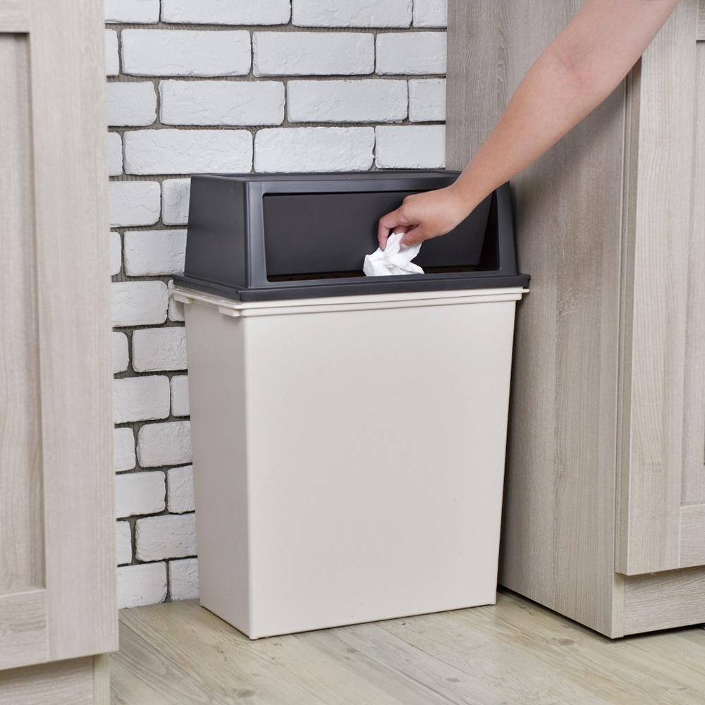 天馬|e-LABO寬型推掀式垃圾桶-35L