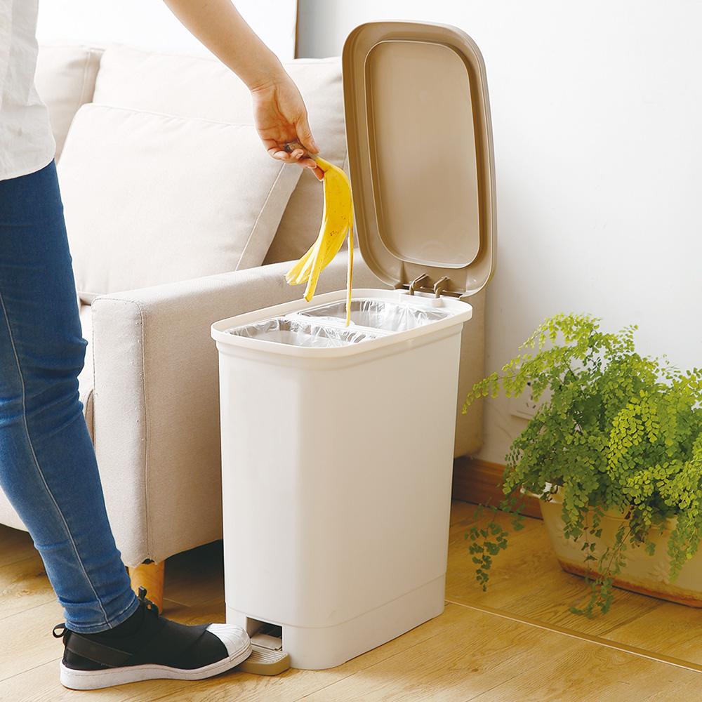 天馬|dustio分類腳踏抗菌垃圾桶(深型)-20L