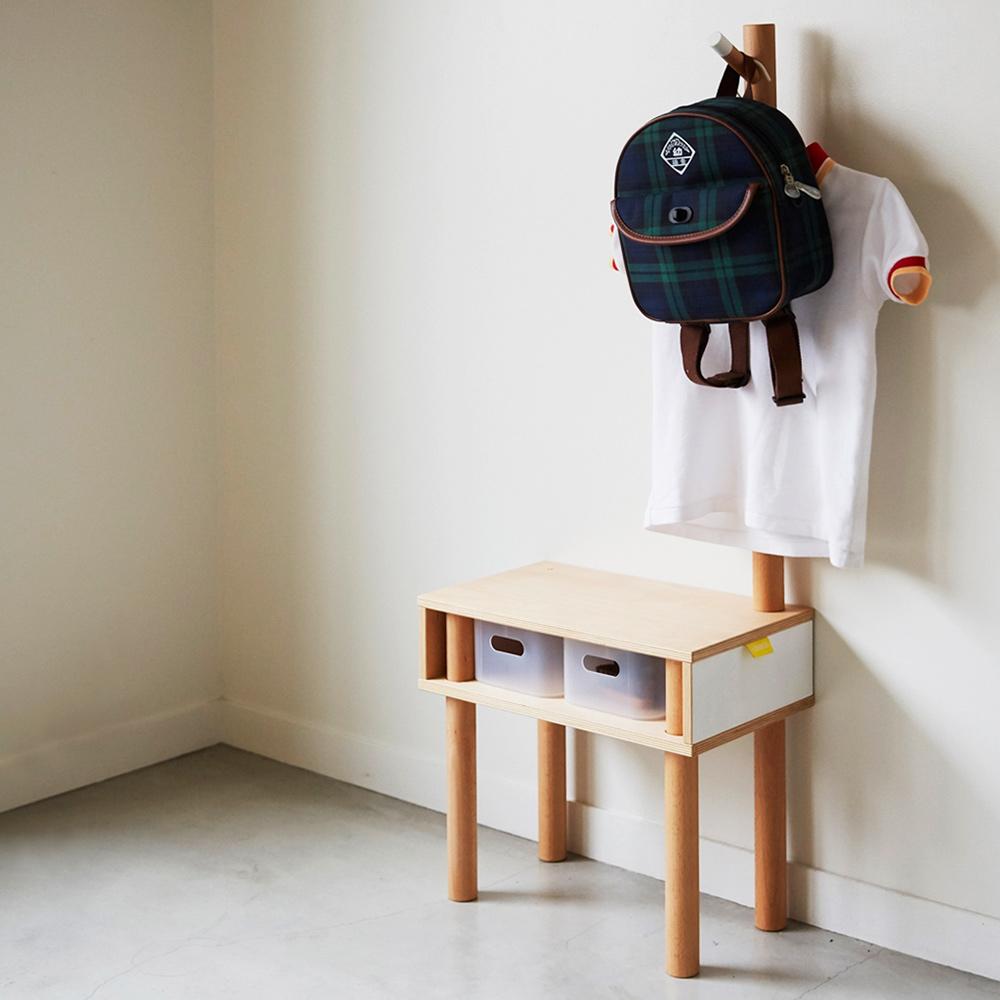 IDEACO|解構木板長頸鹿兒童穿鞋椅附掛架