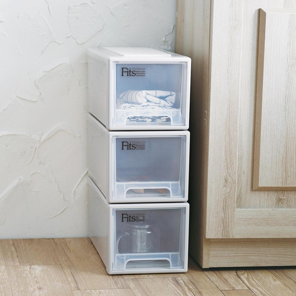 天馬 Fits 正方系列22.5寬單層抽屜收納箱-高20CM-3入