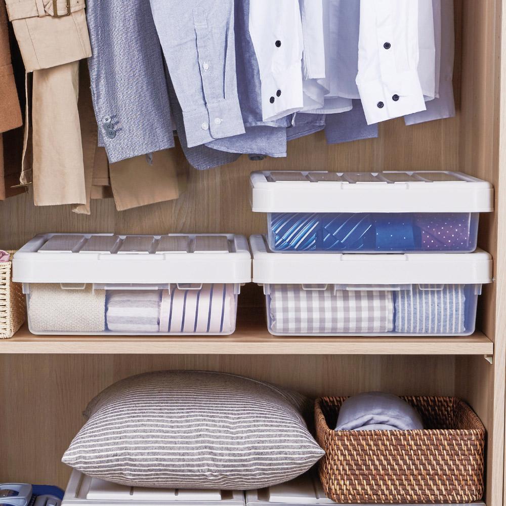 天馬|櫥櫃二階式整理收納箱-21L-3入