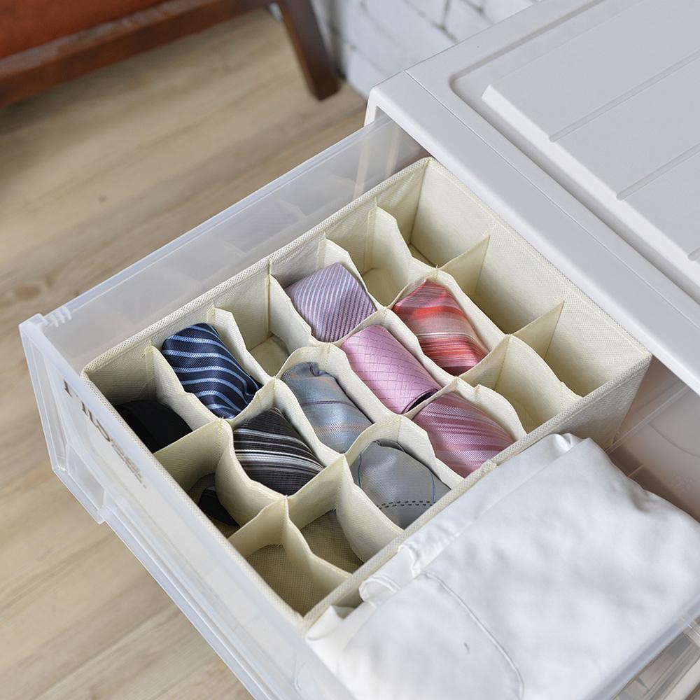 天馬|抽屜用18小格分類收納布盒-面寬24cm-2入