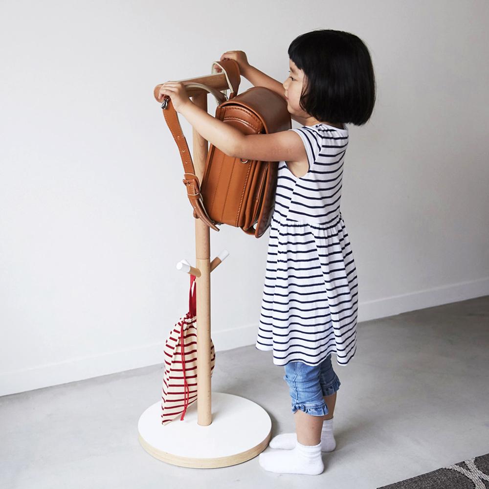 IDEACO|解構木板兒童書包衣架
