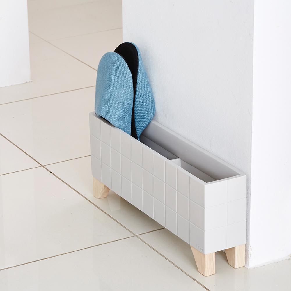IDEACO|時尚實木腳座拖鞋架