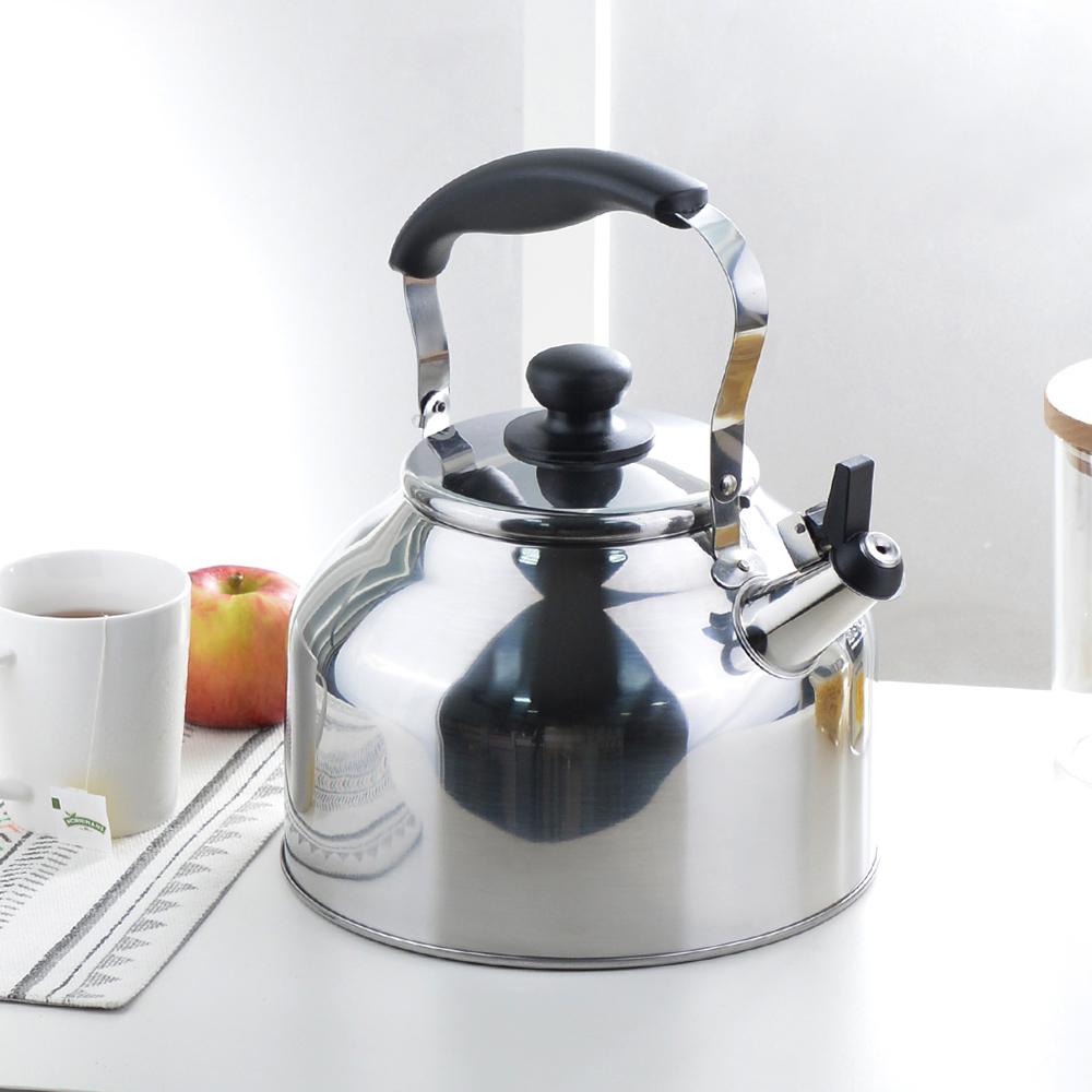 珍珠金屬 IH不鏽鋼廣口笛音煮水壺-3.7L
