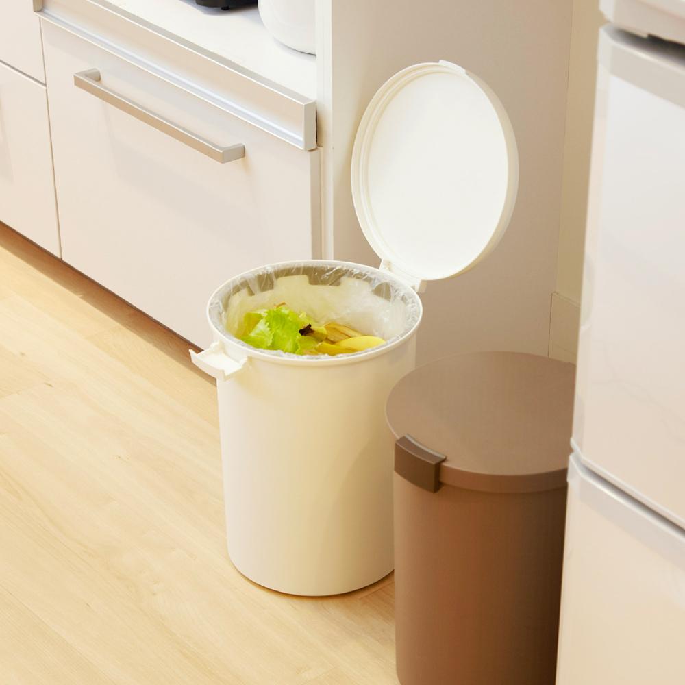 岩谷Iwatani|圓形可分類密封防臭垃圾桶-12.4L
