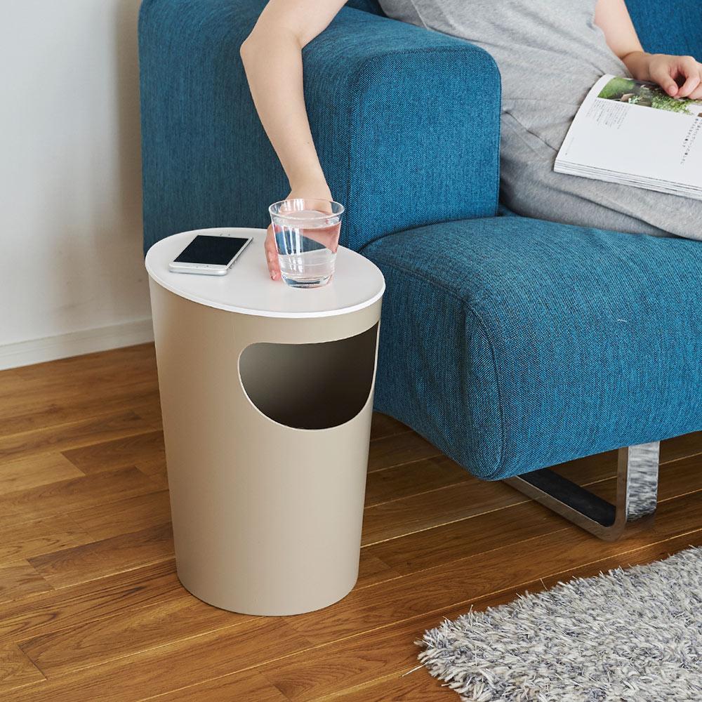 岩谷Iwatani|ENOTS儲物垃圾桶置物邊桌-9.4L