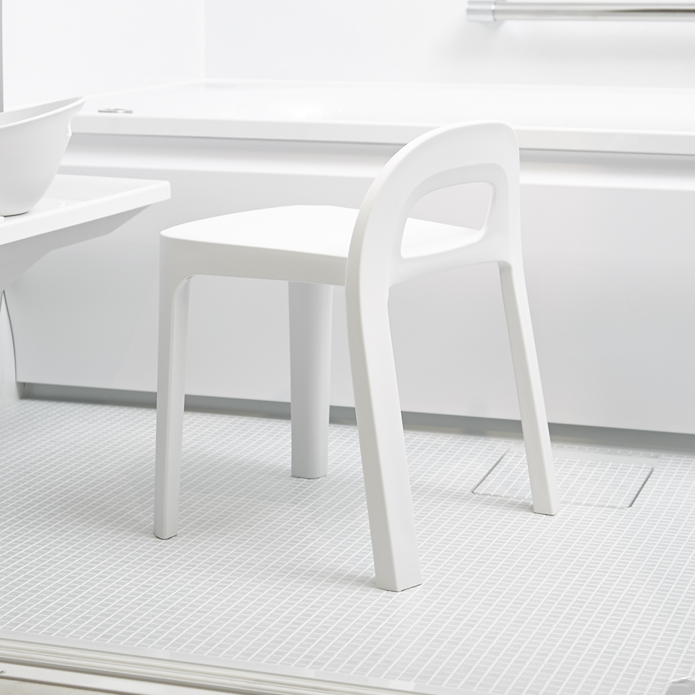 岩谷Iwatani|RETTO高腳一體簡約室內穿鞋浴室椅凳
