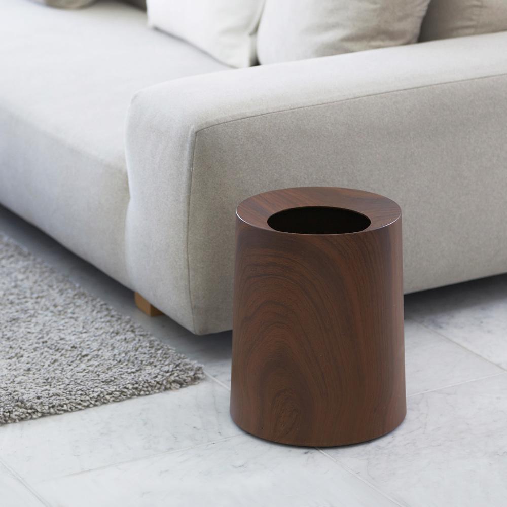 IDEACO|胡桃木紋家用垃圾桶-11.4L
