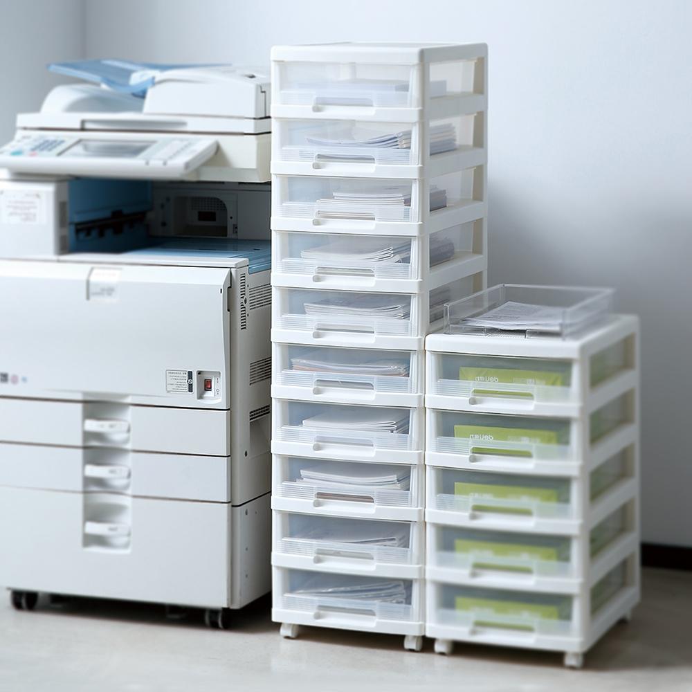 天馬|B4移動式十層透窗文件分類抽屜櫃-白