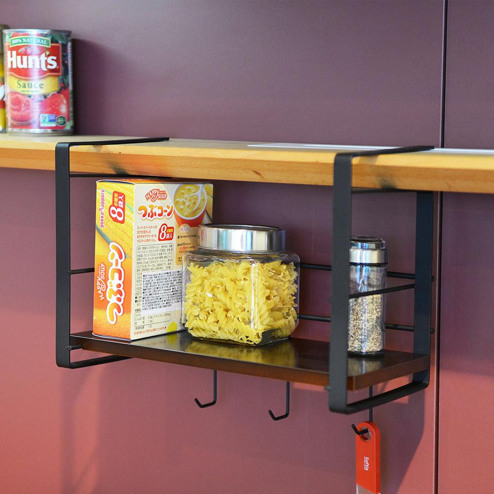 +O家窩|日本製Layer免鑽櫥櫃下金屬吊掛層架-30cm