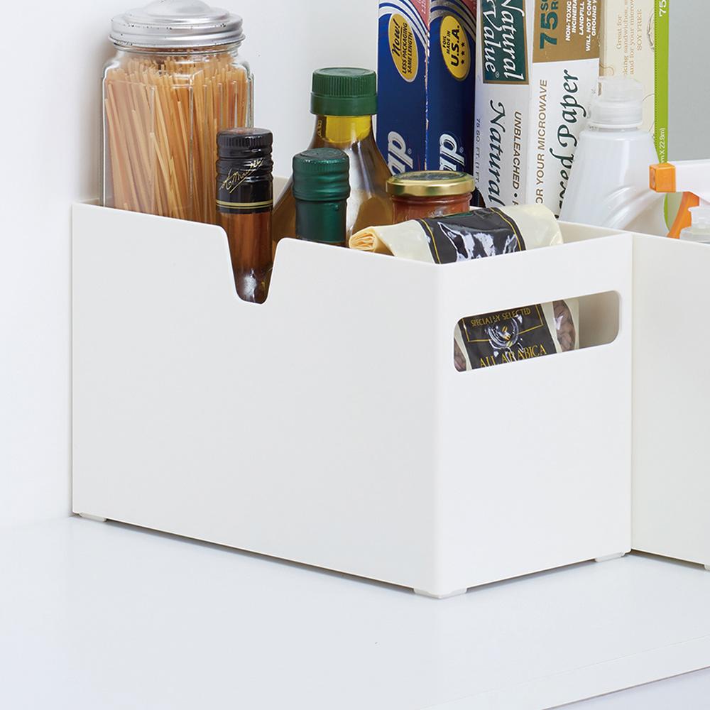 日本天馬 廚房系列平口式櫥櫃抽屜用ABS收納籃-寬15CM-3入
