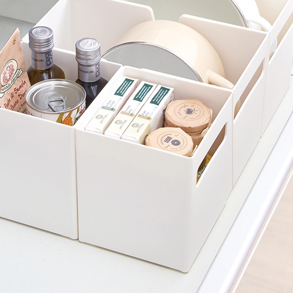 日本天馬 廚房系列方形櫥櫃抽屜用ABS收納籃-寬15CM-3入