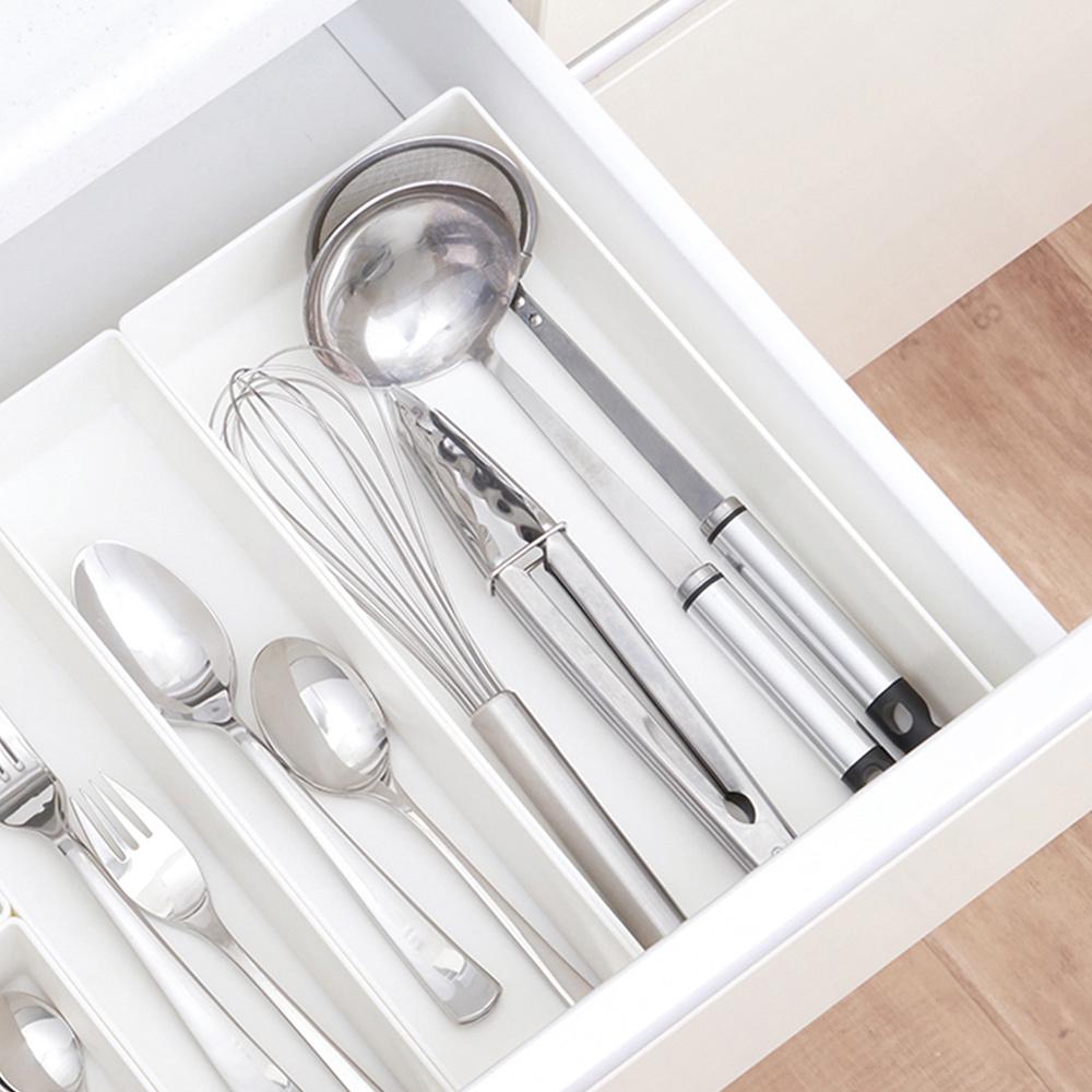 日本天馬 抽屜分隔/鏡櫃用ABS化妝品餐具收納籃-L-3入