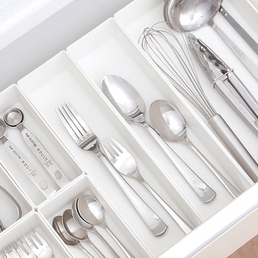 日本天馬|抽屜分隔/鏡櫃用ABS化妝品餐具收納籃-M-3入