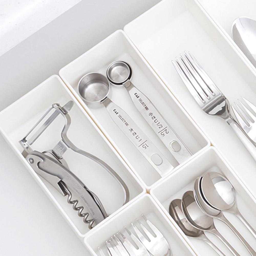 日本天馬|抽屜分隔/鏡櫃用ABS化妝品餐具收納籃-S-3入