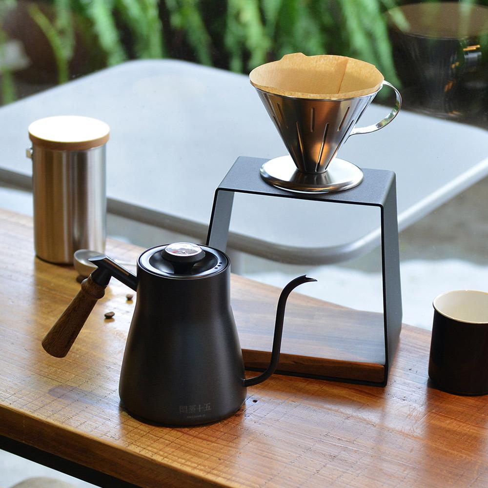+O家窩|悶蒸十五手沖咖啡旗艦組(咖啡濾架+手沖壺+濾杯)