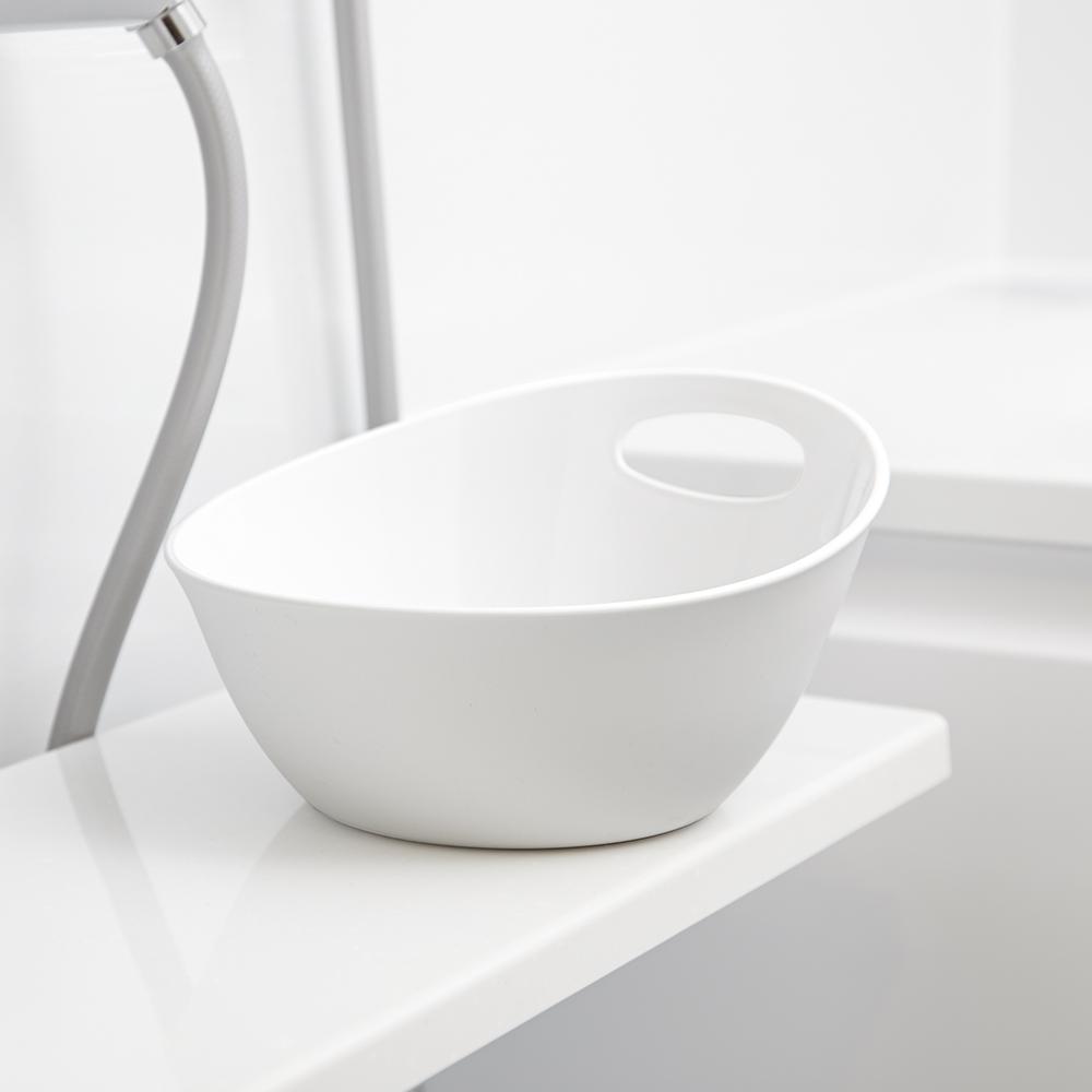 岩谷Iwatanil RETTO一體簡約圓形浴室舀水盆