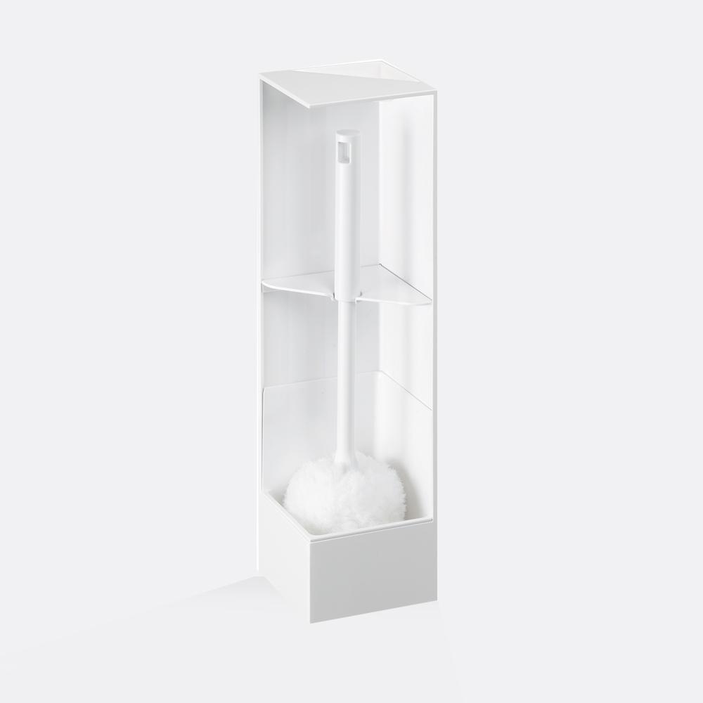 岩谷Iwatani|RETTO直角/轉角隱藏式馬桶刷架3件組-1架2軟毛刷