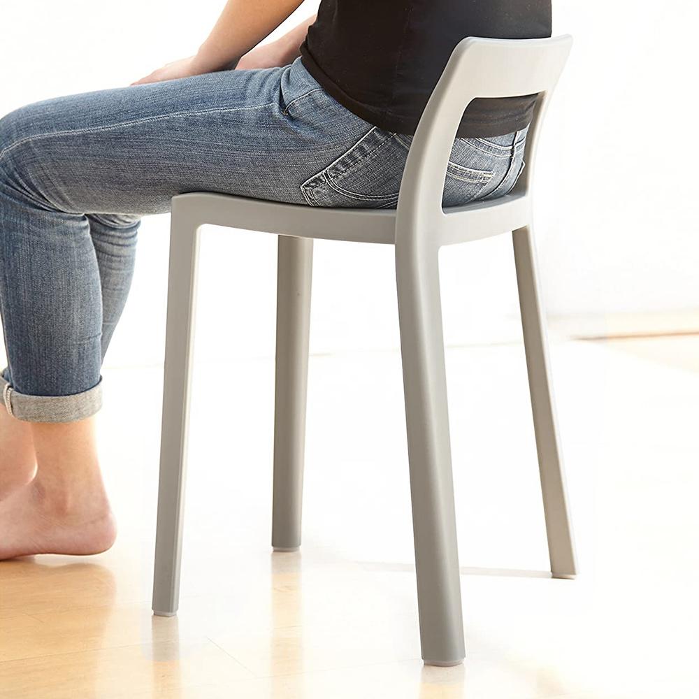 岩谷Iwatani|ENOTS輕量一體可疊式短背椅凳-座高40.5cm-2色可選
