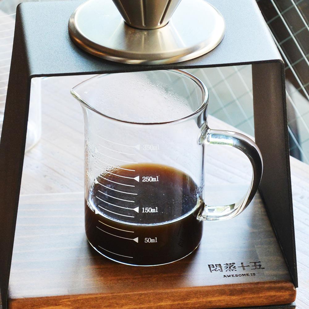 +O家窩|悶蒸十五附刻度耐熱玻璃咖啡公杯量壺-350ml
