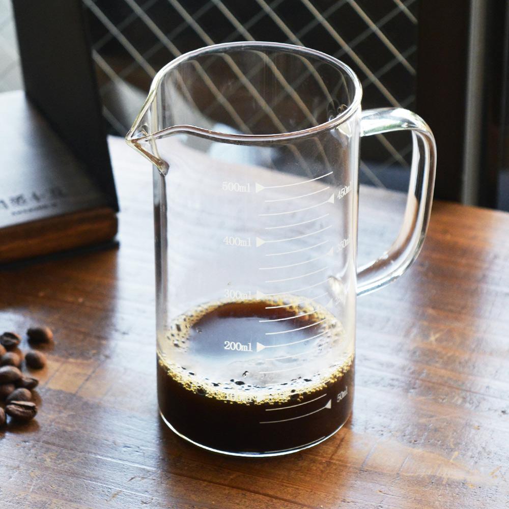 +O家窩|悶蒸十五附刻度耐熱玻璃咖啡公杯量壺-500ml