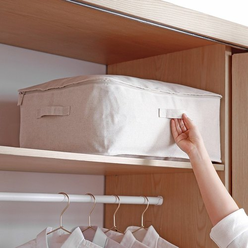 霜山|棉麻大容量可水洗防塵衣物棉被收納袋