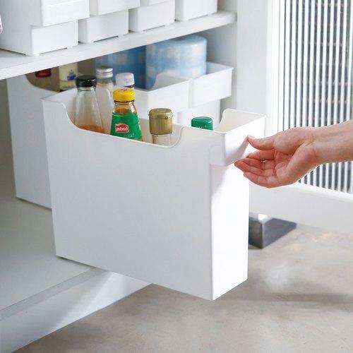 霜山|11CM面寬廚櫃隙縫多功能收納盒(附輪)-3入