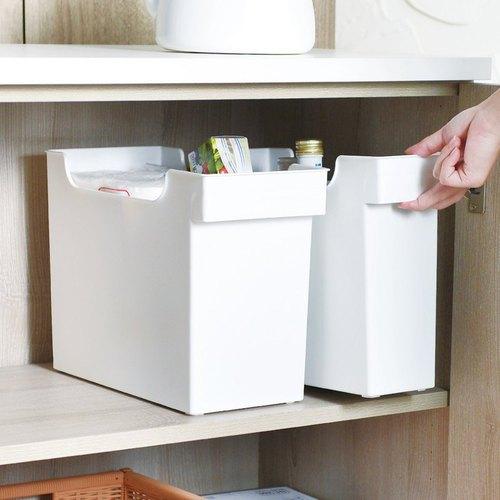霜山 16.5CM面寬廚櫃隙縫多功能收納盒(附輪)-3入