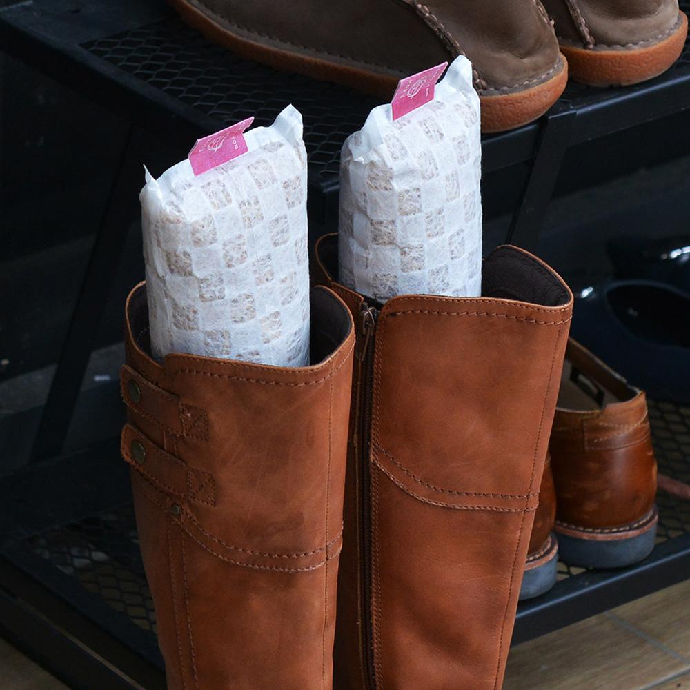 +O家窩 X 戶田|日本製天然木絲除溼/消臭芳香鞋塞(樟木味)-長靴專用-1雙入