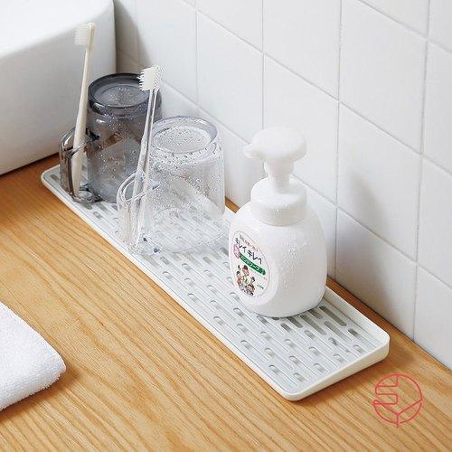 霜山|多功能廚具/牙刷杯盤/瀝水雙層托盤-窄型