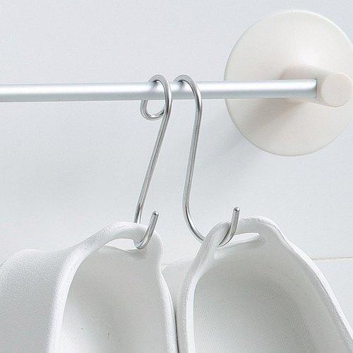 霜山|304不鏽鋼多功能萬用晾曬雙掛鉤-6入