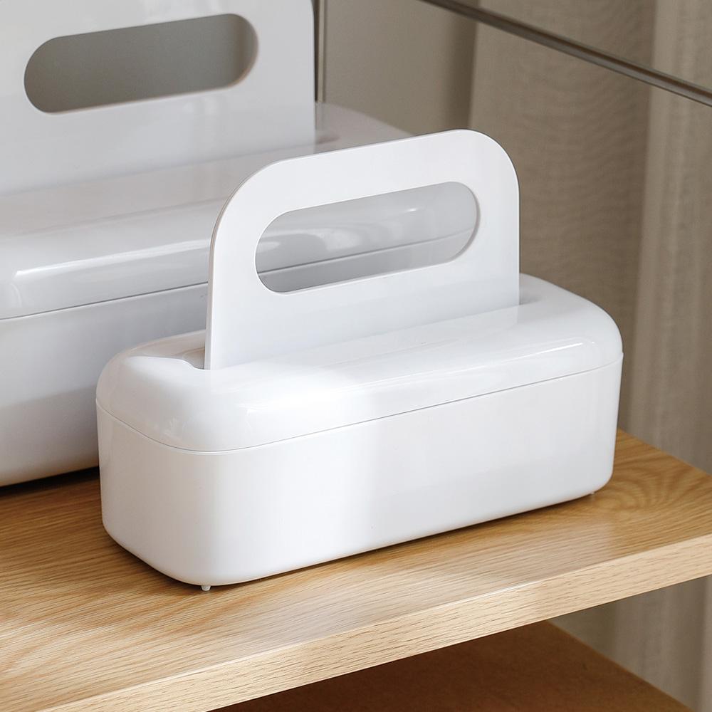 霜山|ABS無印風萬用手提式收納盒附蓋