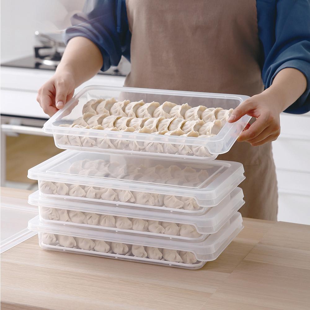 霜山 可疊式冰箱水餃/麵點冷藏冷凍保鮮盒-3入