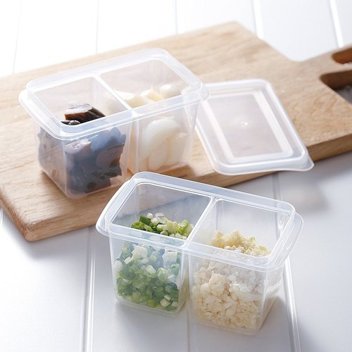 霜山|雙格蔥薑蒜/醬菜冷藏冷凍保鮮盒附蓋-280ml-6入