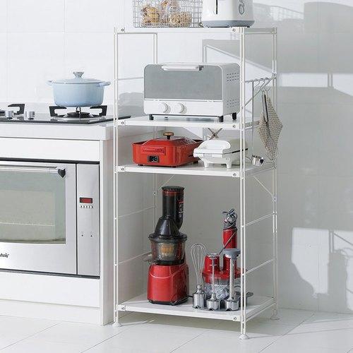 霜山|四層耐重金屬烤箱電器落地收納架-DIY-白