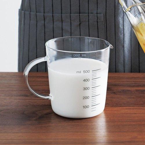 霜山|高透耐熱可微波玻璃量杯附刻度-500ml