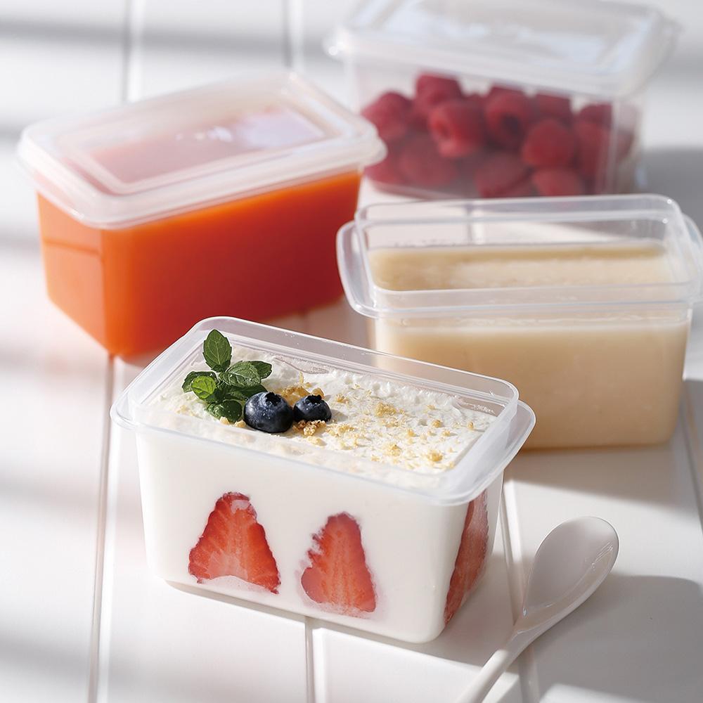 霜山|單格堅果穀物/甜點冷藏冷凍保鮮盒附蓋-280ml-6入