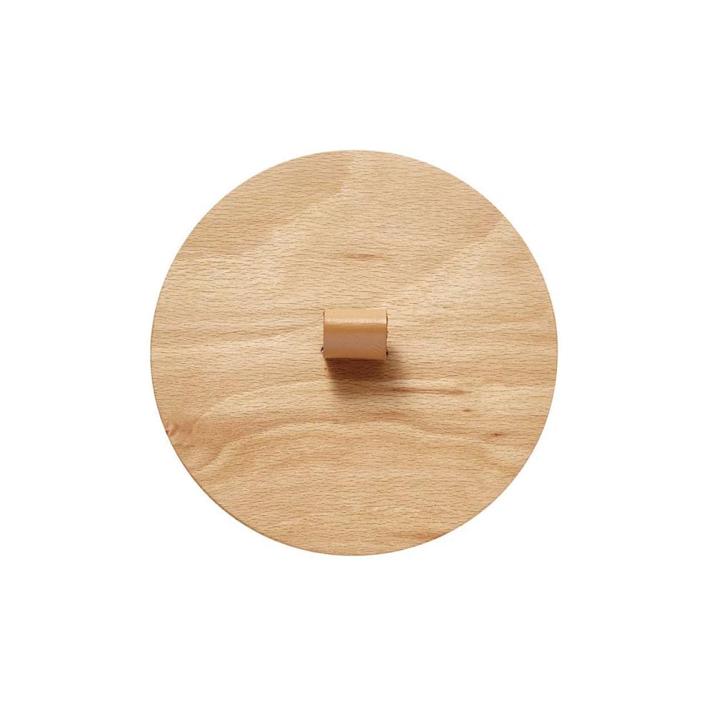 IDEACO|圓形家用垃圾桶11.4L專用原木蓋-附真皮把手(TUBELOR HOMME系列專用)
